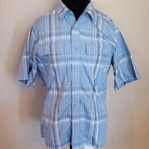 Blue tan quick dry eddie bauer sport short sleeve